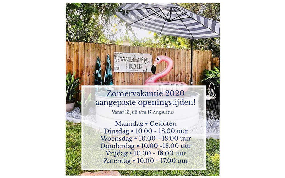 Yes, we are open  –  Vakantie 2020